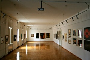 Gallery is located in a building a few steps away from the main hostel building